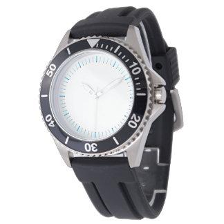 Azul fresco en el reloj innumerable blanco del