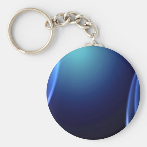 Azul fresco llavero redondo tipo pin