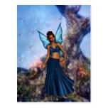 Azul fresco postal