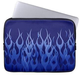 Azul fresco que compite con rayas del Pin de las Funda Para Ordenador