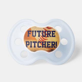 Azul futuro de la jarra del béisbol del pacificado chupetes para bebés