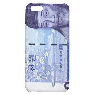 Azul ganado del caso del iPhone de la moneda 1000