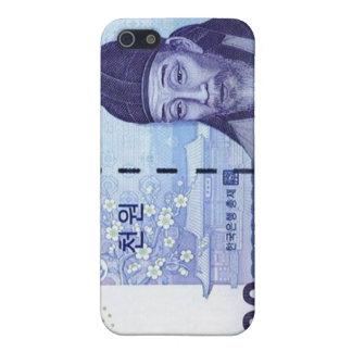 Azul ganado del caso del iPhone de la moneda 1000  iPhone 5 Protectores
