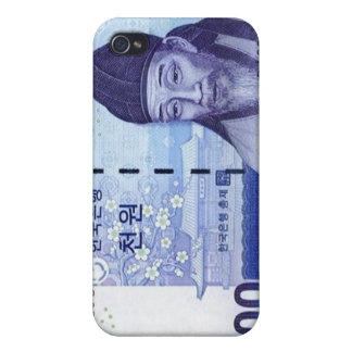 Azul ganado del caso del iPhone de la moneda 1000 iPhone 4 Protector