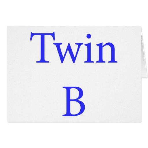 Azul gemelo de B Tarjeta De Felicitación