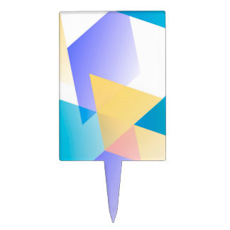 Azul geométrico 03 decoraciones para tartas