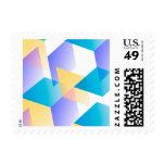 Azul geométrico 03 sello