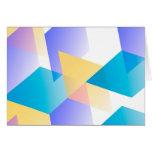 Azul geométrico 03 tarjetón