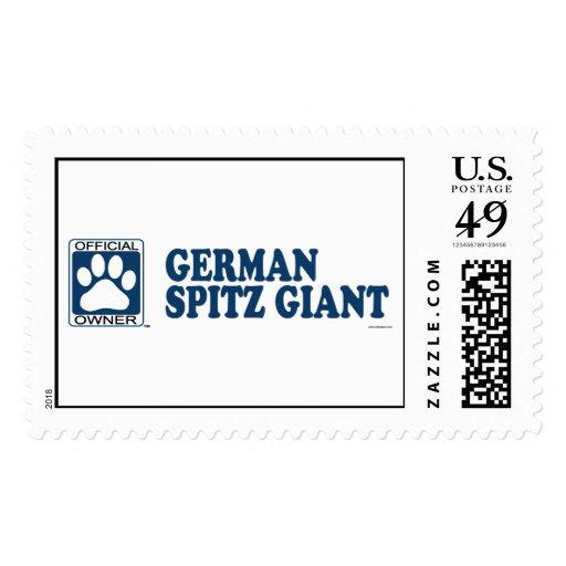 Azul gigante del perro de Pomerania alemán Sellos