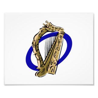 Azul gráfico ring png de la arpa adornada foto