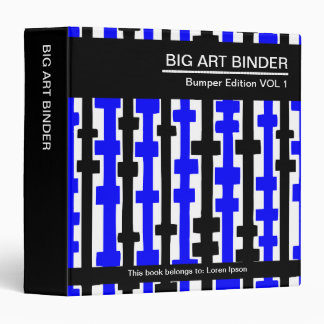 Azul grande de la carpeta 010 del arte (el 1.5in),
