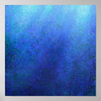 Azul grande póster