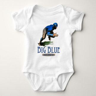 Azul grande remera
