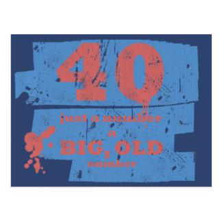 Azul grande, viejo 40 tarjeta postal