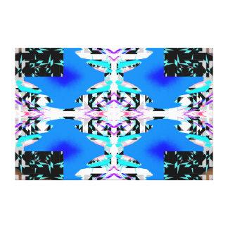 Azul gris de la turquesa moderna de las impresión en lona
