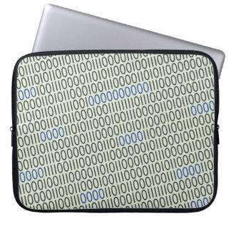 Azul gris de los números binarios fundas computadoras