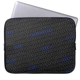 Azul gris de los números binarios mangas portátiles