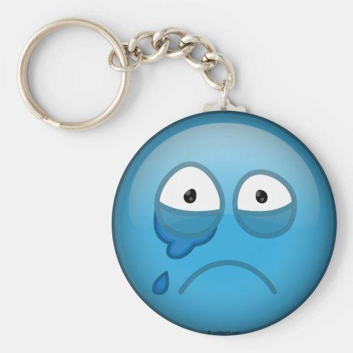 Azul gritador llavero personalizado