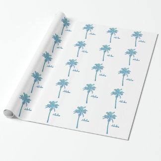 Azul hawaiano de la playa de la hawaiana de la papel de regalo