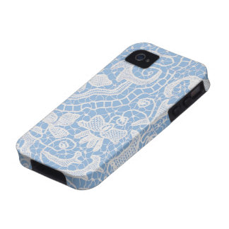 Azul hecho a mano del cordón iPhone 4 carcasa