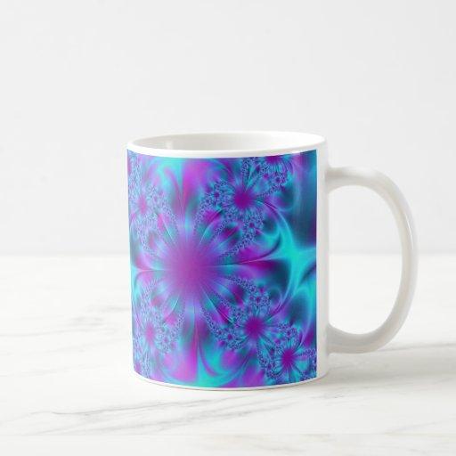 Azul hermoso taza
