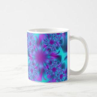 Azul hermoso taza de café