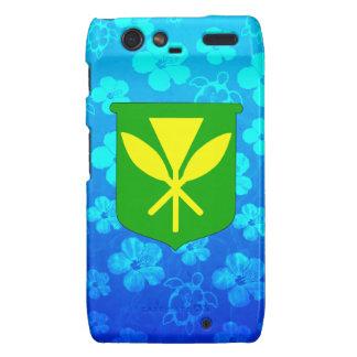 Azul Honu de Kanaka Maoli Motorola Droid RAZR Carcasas