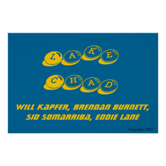 Azul horizontal del poster del LC Póster
