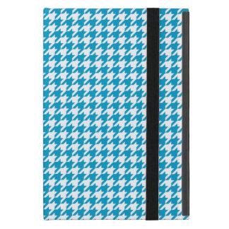 Azul Houndstooth de la aguamarina iPad Mini Coberturas