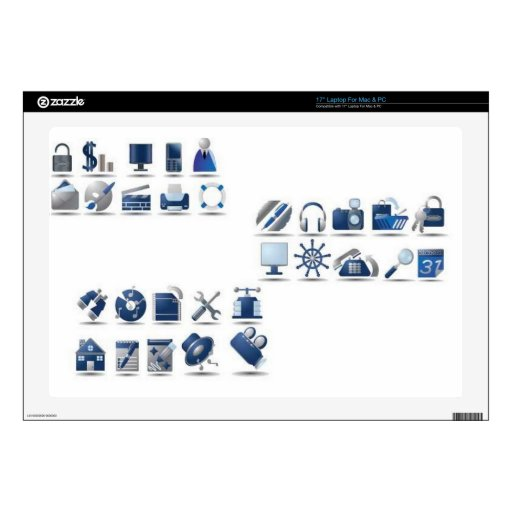 azul-icono-sistema skins para 43,2cm portátil