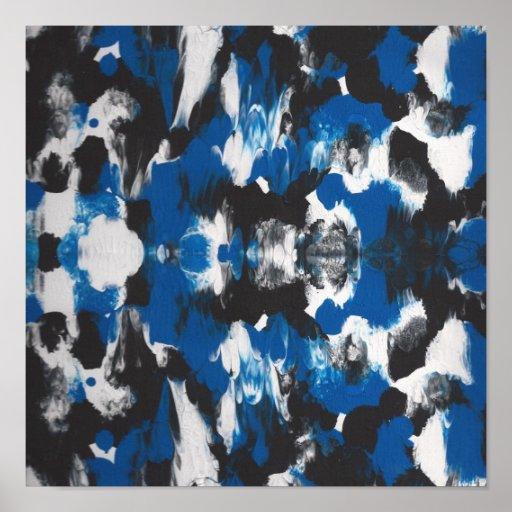 azul, IDEAL ABSTRACTO del POSTER del NEGRO PARA EL
