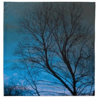 azul ideal del árbol servilleta de papel