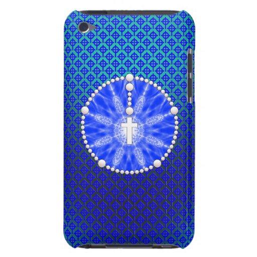 Azul ideal del colector del rosario iPod Case-Mate carcasas