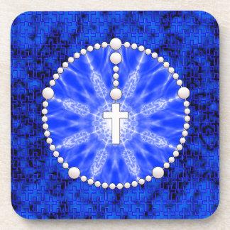 Azul ideal del colector del rosario posavasos de bebidas