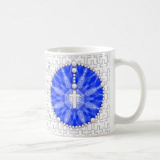 Azul ideal del colector del rosario tazas de café