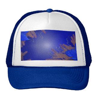 Azul III del Poinsettia del navidad Gorras De Camionero