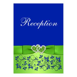 Azul IMPRESO de la CINTA, tarjeta floral verde del Tarjetas De Visita Grandes