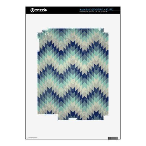 Azul inconsútil del modelo del galón del vector iPad 3 skins