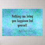 Azul inspirado de la cita de la felicidad de Emers Impresiones