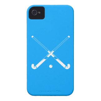 Azul intrépido del hockey hierba de Blackberry iPhone 4 Case-Mate Coberturas