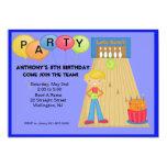 Azul, invitación de la fiesta de cumpleaños que invitación 12,7 x 17,8 cm
