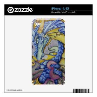 Azul iPhone 4 Calcomanías