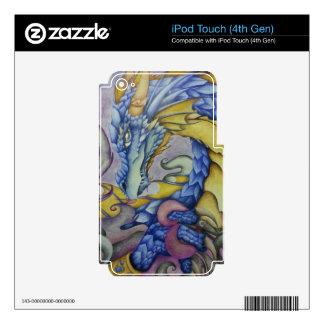 Azul iPod Touch 4G Skin