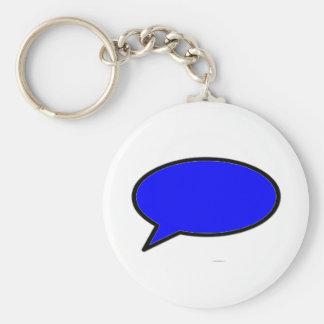 Azul izquierdo de la burbuja de la palabra los reg llaveros personalizados