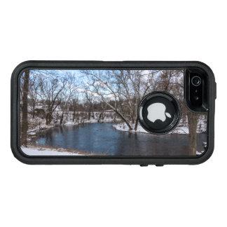 Azul James River del invierno Funda OtterBox Defender Para iPhone 5