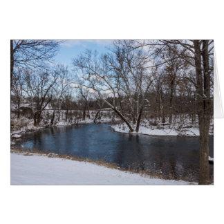 Azul James River del invierno Tarjeta Pequeña