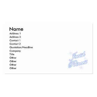 Azul judío de la princesa plantillas de tarjetas de visita