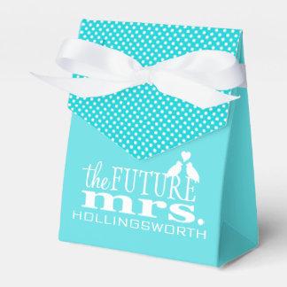Azul la señora futura Bridal Shower Caja Para Regalos