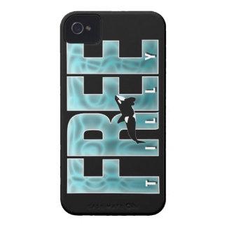 Azul libre de Tilly Case-Mate iPhone 4 Cárcasas