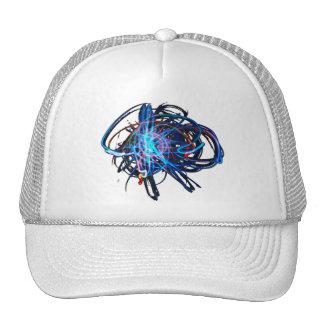 Azul ligero del arte - gorra